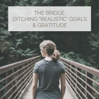 THE BRIDGE,DITCHING REALISTIC GOALS &GRATITUDE