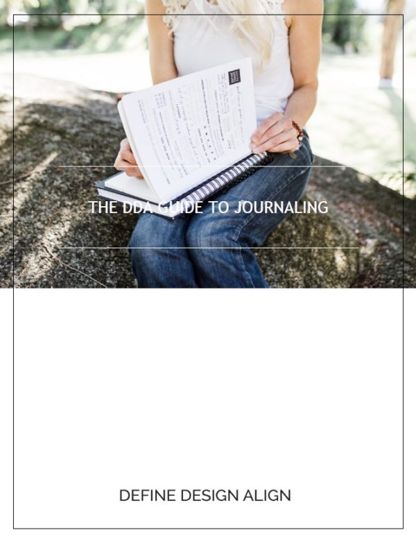 The DDA Guide to Journaling cover